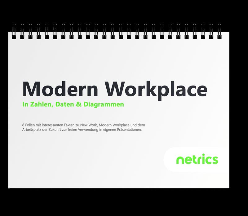 Mockup Modern Workplace in Zahlen und Fakten